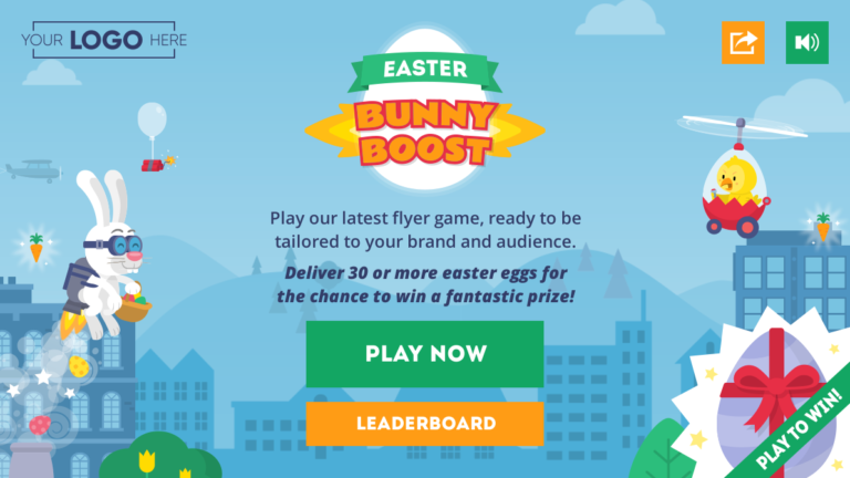 Main Menu of the Bunny Boost Easter game