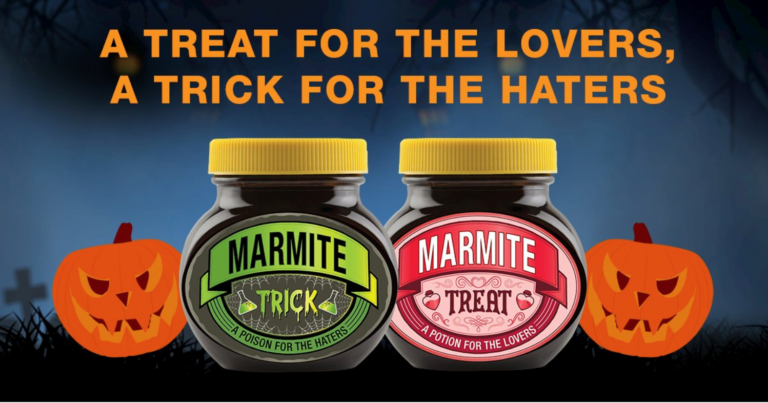 Marmite Halloween product packaging example