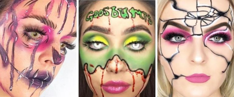 Soap and Glory Halloween face paint examples