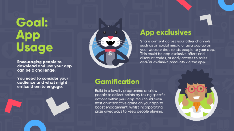 Christmas marketing ideas infographic: increasing app downloads and usage