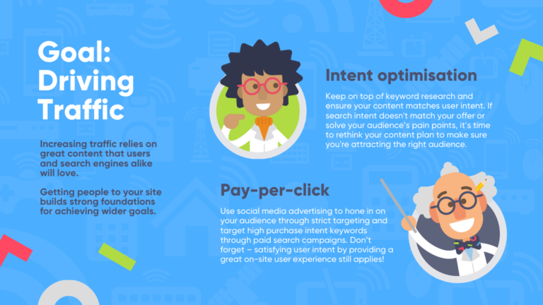 Christmas marketing ideas infographic: how to increase web traffic