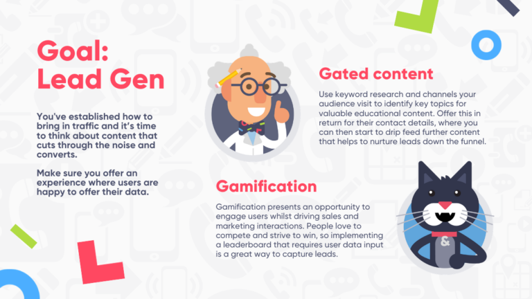 Christmas marketing ideas infographic: content formats to generate leads