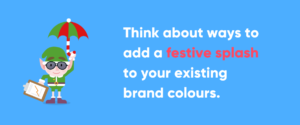 Text Image with Advice for Using Christmas Colours in Branding