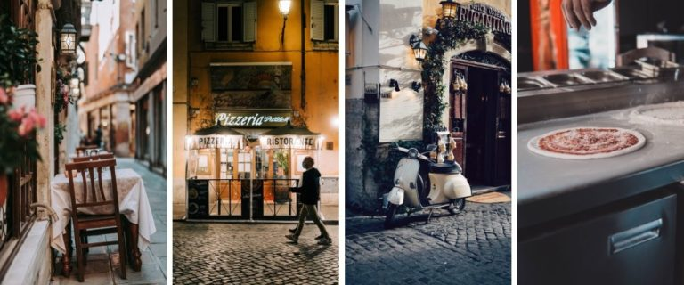 Images Showing Brand Identity for Italian Restaurant