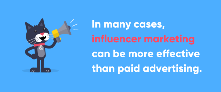 Text image showing influencer marketing as a bar promotion strategy