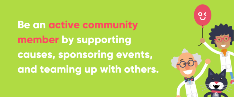 Advice for bars and pubs to be active community members