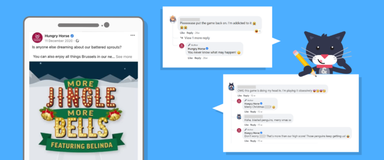 Online Christmas Game with Comments on Social Media