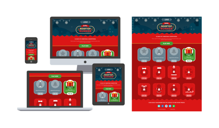 Example of Digital Advent Calendar and Game to Use on Social Media