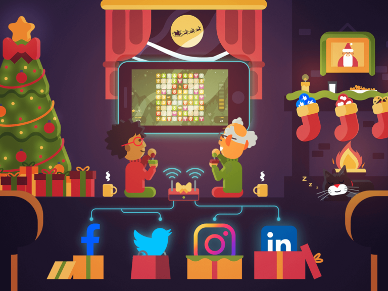 Christmas Social Media Games Feature