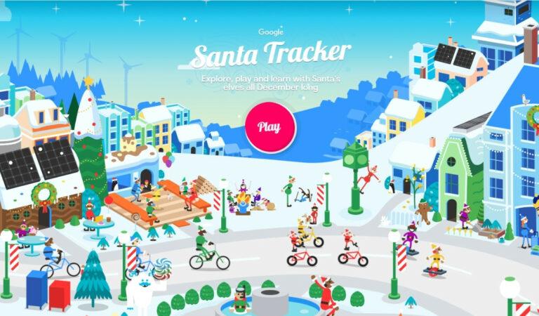 Example of Interactive Christmas Campaign - Google Santa Tracker