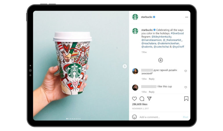 Starbucks Christmas Campaign UGC Example